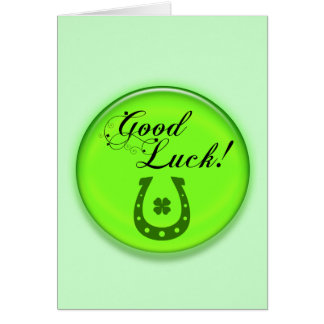 Good Luck Horse Shoe Greeting Card