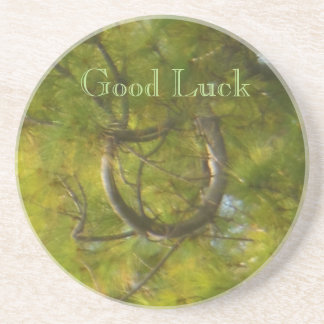 Good Luck Horseshoe Branch Coaster