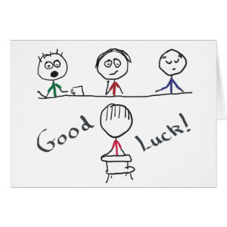 Good Luck Interview Greeting Card