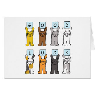 Good Luck Kittens. Card