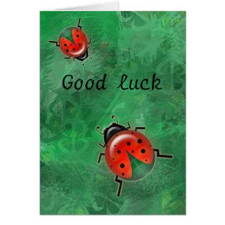 good luck lady b. card