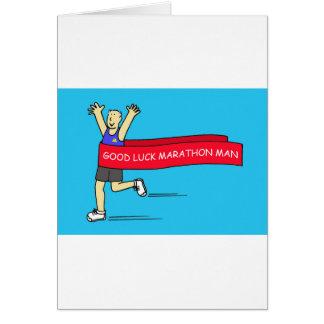 Good Luck marathon man. Card