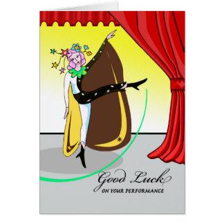 Good Luck on Dance Recital, Dancer on Stage Card
