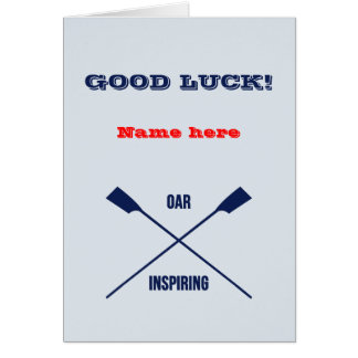 Good Luck personalized rowing Card