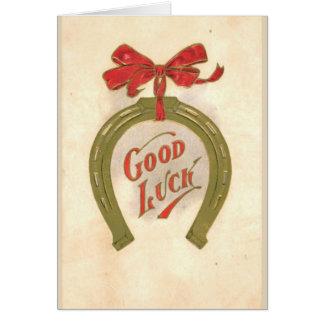 Good luck- vintage Greeting Card