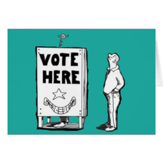 GOOD LUCK VOTING CARD