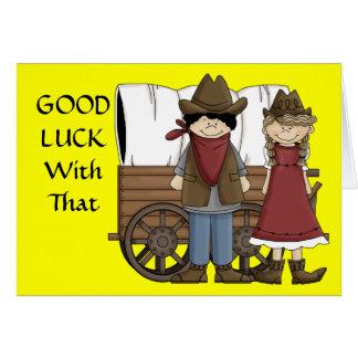 Good Luck - Western Card