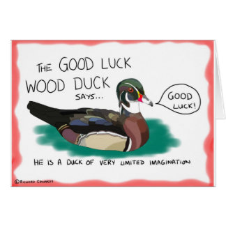 Good Luck Wood Duck card