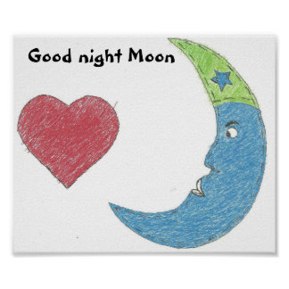 Good night moon poster