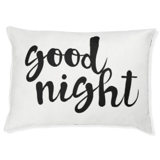 Good Night Typography Script Pet Bed