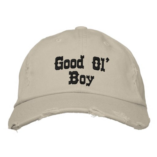'Good Ol' Boy' Hat Embroidered Hats