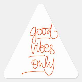 Good Vibrations - Good Vibes Triangle Sticker