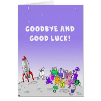 Goodbye and Good Luck Greeting Card