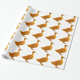 Goodluck Chinese  Charm : Golden Geese Decorations Wrapping Paper