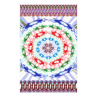 Goodluck Round Chakra Healing Art Stationery