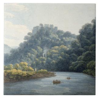 Goodrich Castle on the Wye (w/c, pen & ink, chalk Tile