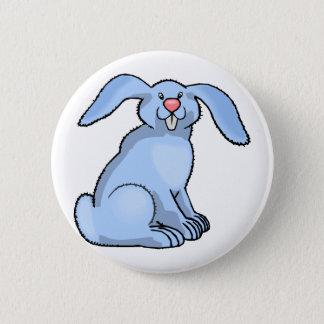 Goofy Blue Bunny 6 Cm Round Badge
