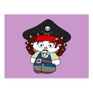 Goofy Cartoon Pirate Post Cards
