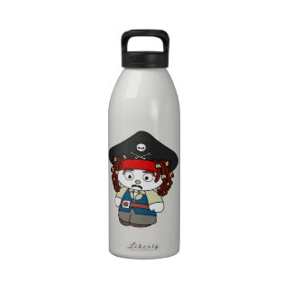 Goofy Cartoon Pirate Drinking Bottle