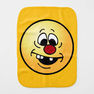 Goofy Smiley Face Grumpey Burp Cloth