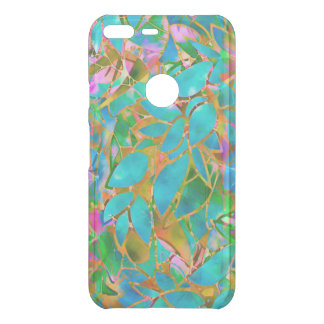 Google Pixel XL Case Floral Abstract Stained Glass