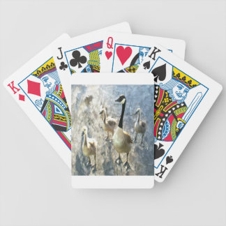 goose bicycle playing cards