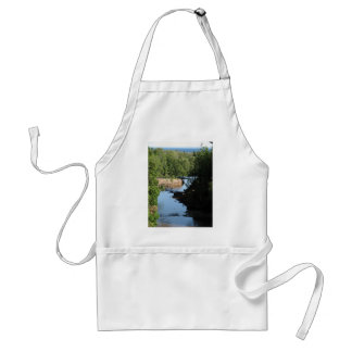 Gooseberry Falls - Stream running between trees Standard Apron