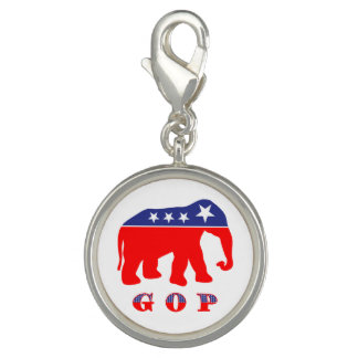 GOP - Red, White & Blue Elephant