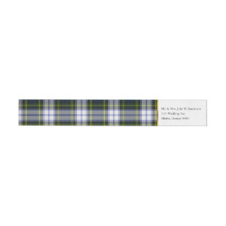 Gordon Dress Plaid Wrap Address Labels