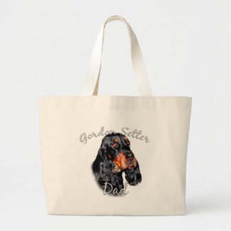 Gordon Setter Dad 2 Large Tote Bag