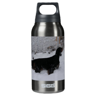 Gordon Setter in a Snowstorm Insulated Water Bottle