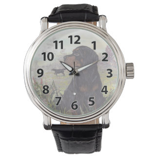 Gordon Setter Puppy Dreamer Wristwatch