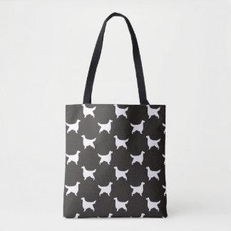 Gordon Setter Silhouettes Pattern Tote Bag