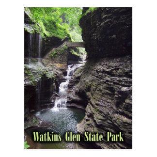 Gorge at Watkins Glen State Park, New York. Postcard