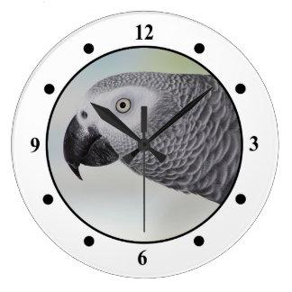Gorgeous African Grey Parrot Clocks