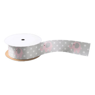 Gorgeous Baby Elephant in Pink Satin Ribbon