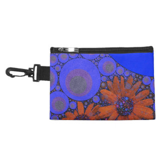 Gorgeous Bright Blue Orange Sunflowers Accessory Bag