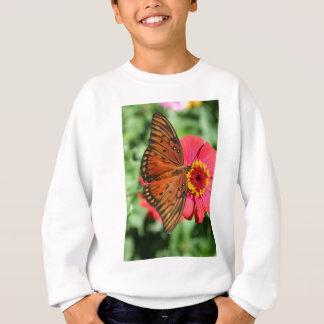 Gorgeous Butterfly on Red Zinnia Design. Sweatshirt