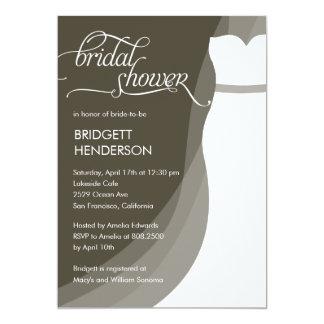 Gorgeous Dress Bridal Shower Invitation
