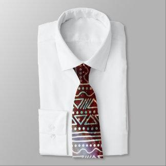 Gorgeous Galaxy Tribal Geometric Red Pattern Tie