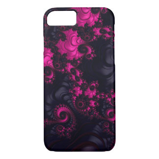 Gorgeous Pink Black Fractal iPhone 7 Case