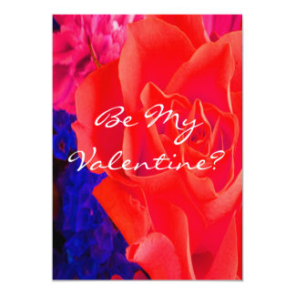 Gorgeous Red Red Rose 5x7 Paper Invitation Card