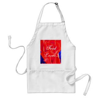 Gorgeous Red Red Rose Adult Apron