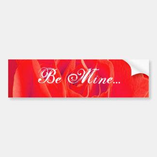 Gorgeous Red Red Rose Car Bumper Sticker