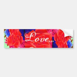 Gorgeous Red Red Rose I Car Bumper Sticker