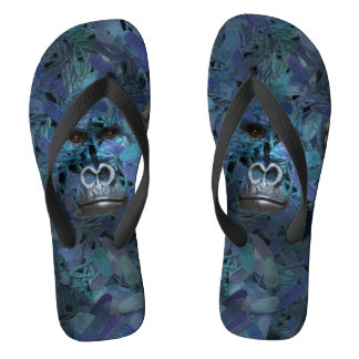 Gorilla Find me series Men Blue Flip Flops Thongs