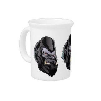 gorilla head illustration pitcher