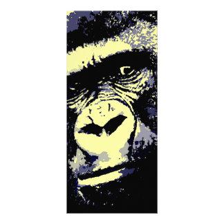 Gorilla Portrait 10 Cm X 23 Cm Rack Card