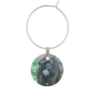 Gorilla Wine Charm