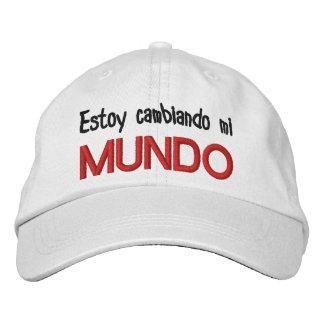 GORRA VARONIL ESTOY CAMBIANDO MI MUNDO EMBROIDERED HATS